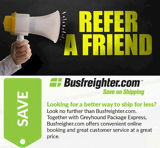 refer people to discount shipping service by bus. Black Bedroom Furniture Sets. Home Design Ideas